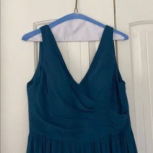 Azazie Keyla ink blue a12 bridesmaid dress & ties